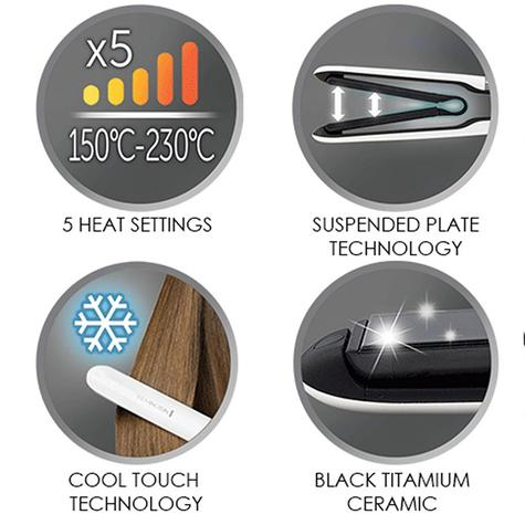 Remington Air Plates Ceramic Hair Straightener | 5 Heat Settings | 230°C | White | S7412 Thumbnail 5