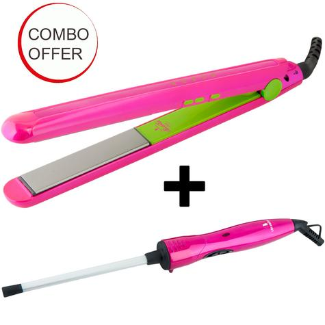 Lee Stafford Women's Combo | Chopstick Styler Curler + Hair Straightener | Easter Offer Thumbnail 1