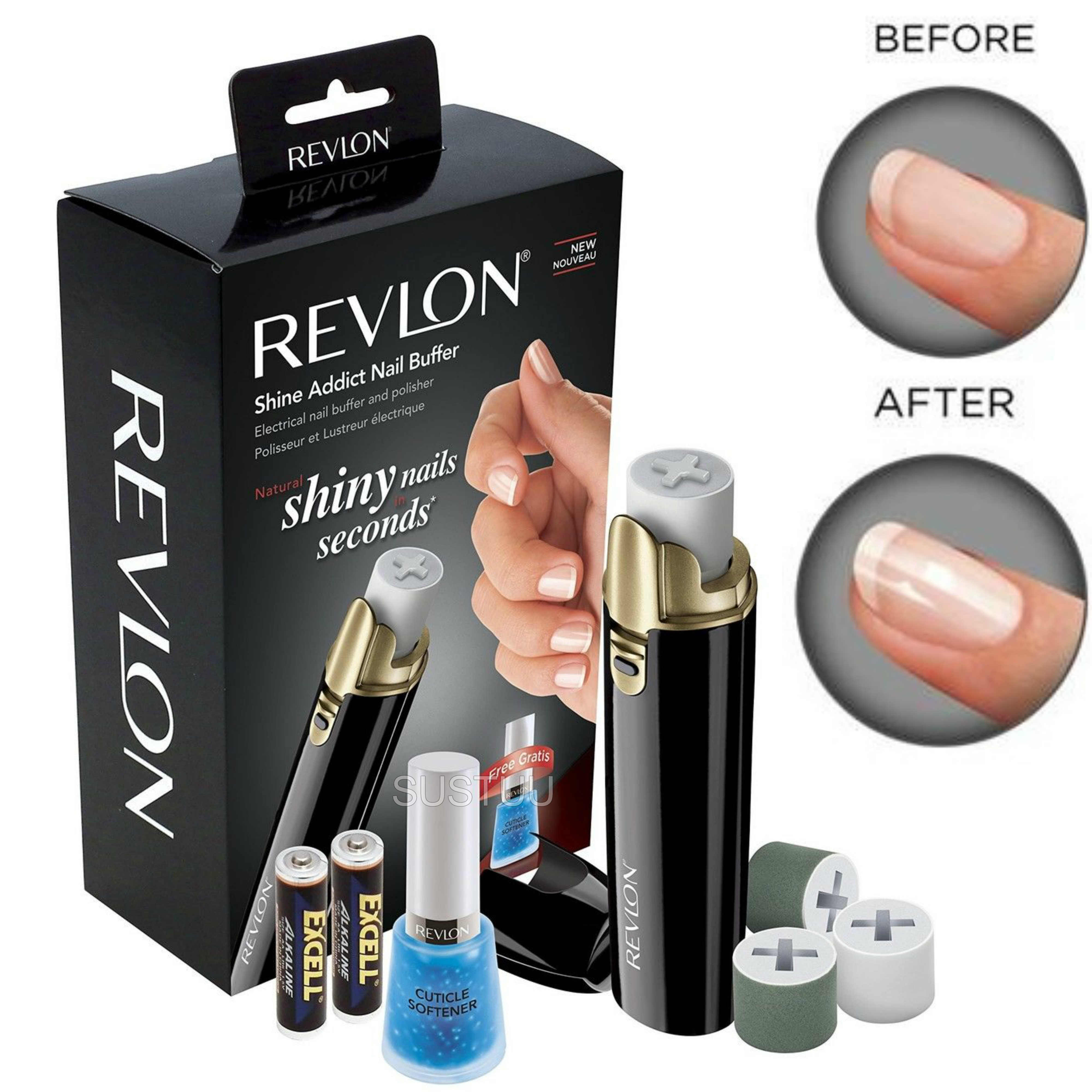 Revlon Shine Addict Electirc Nail Buffer & Polisher | Fast Manicure-Pedicure Tools