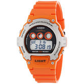 Casio W-214H-4AVEF Illuminator Sports Digital Chrongraph Watch With Battery