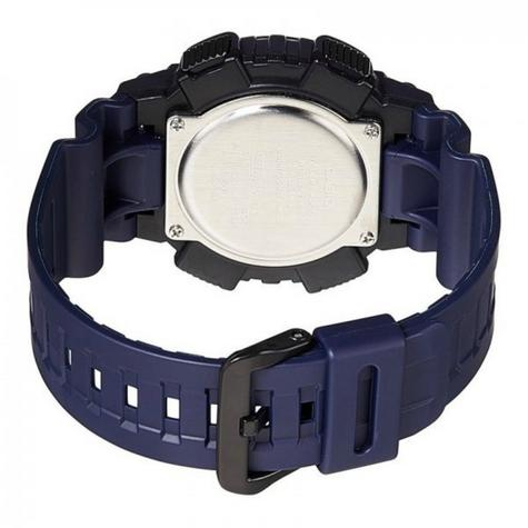 Casio World Time Mens Analouge-Digital Watch|Stopwatch|Alarm|Blue Resin Strap|NEW Thumbnail 2