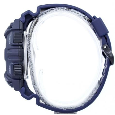 Casio World Time Mens Analouge-Digital Watch|Stopwatch|Alarm|Blue Resin Strap|NEW Thumbnail 3