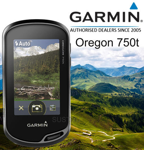 Garmin Oregon 750T Handheld GPS + Europe TopoActive Maps | Built-in Wi-Fi & Camera Thumbnail 1
