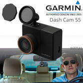 Garmin In Car 2'' Dash Cam 55|GPS-enabled & Voice control|HD Video|MicroSD Card