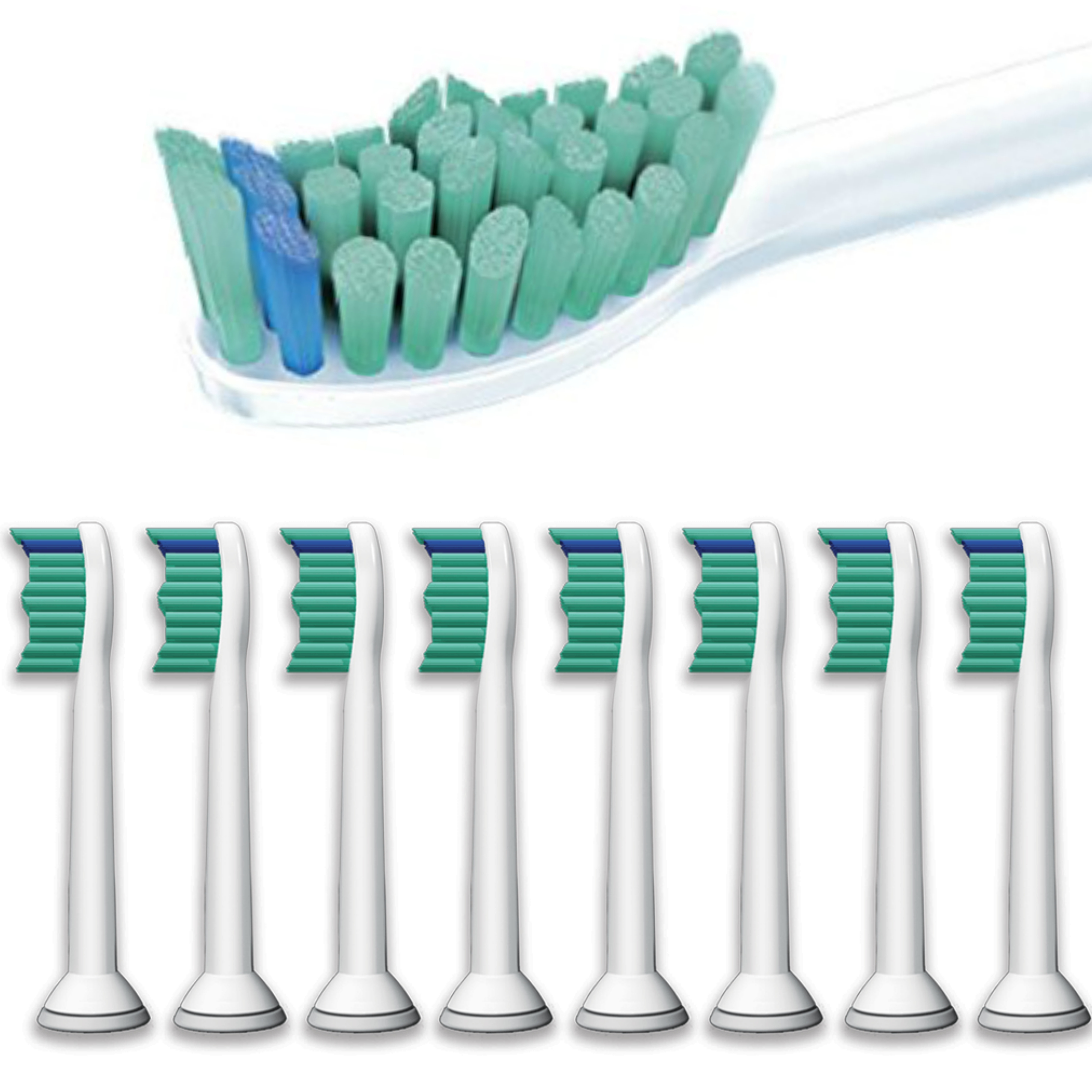 Philips Sonicare ProResults Sonic Toothbrush Heads (Pack of 8) | Replacement Heads