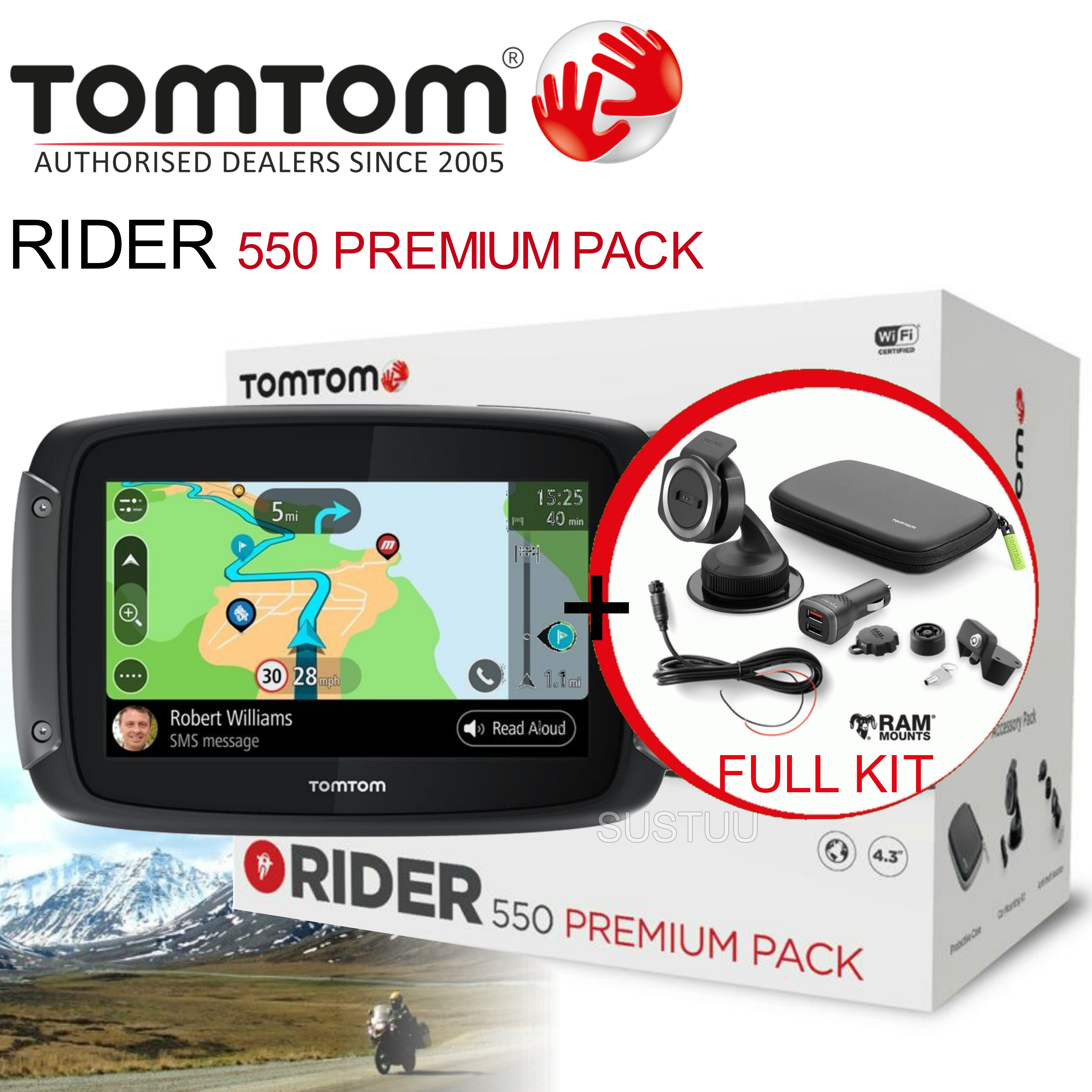 tomtom rider 450 premium gps satnav motorcycle lifetime. Black Bedroom Furniture Sets. Home Design Ideas
