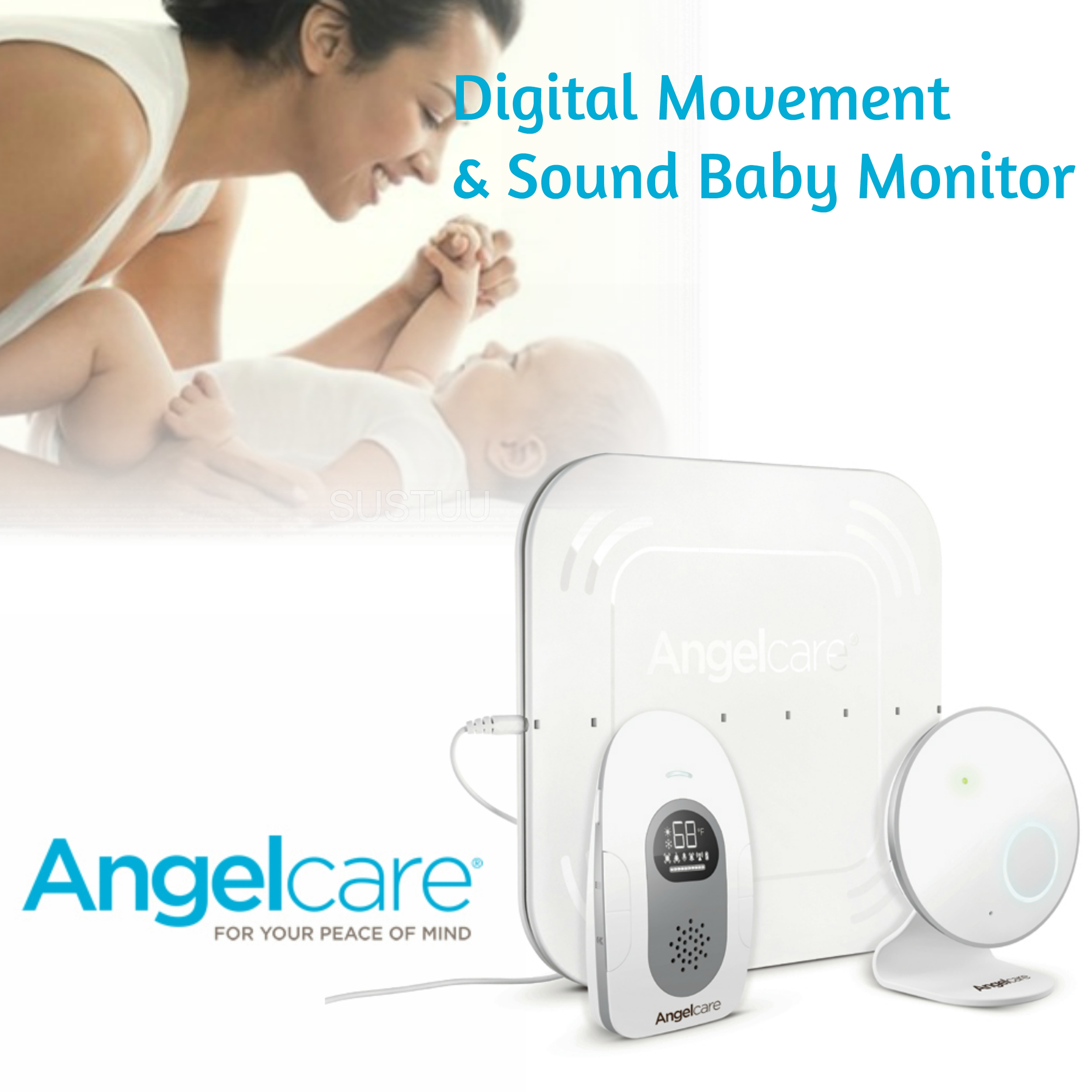 Angelcare Digital Movement & Sound Baby Monitor|Temperature Sensor|Alert System