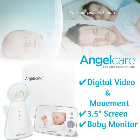"Angelcare Digital Video Movement & Sound 3.5"" Screen Baby Monitor Sensor Pad Thumbnail 1"