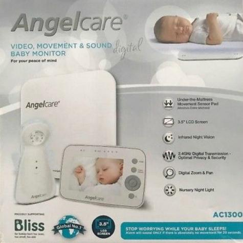 "Angelcare Digital Video Movement & Sound 3.5"" Screen Baby Monitor Sensor Pad Thumbnail 5"