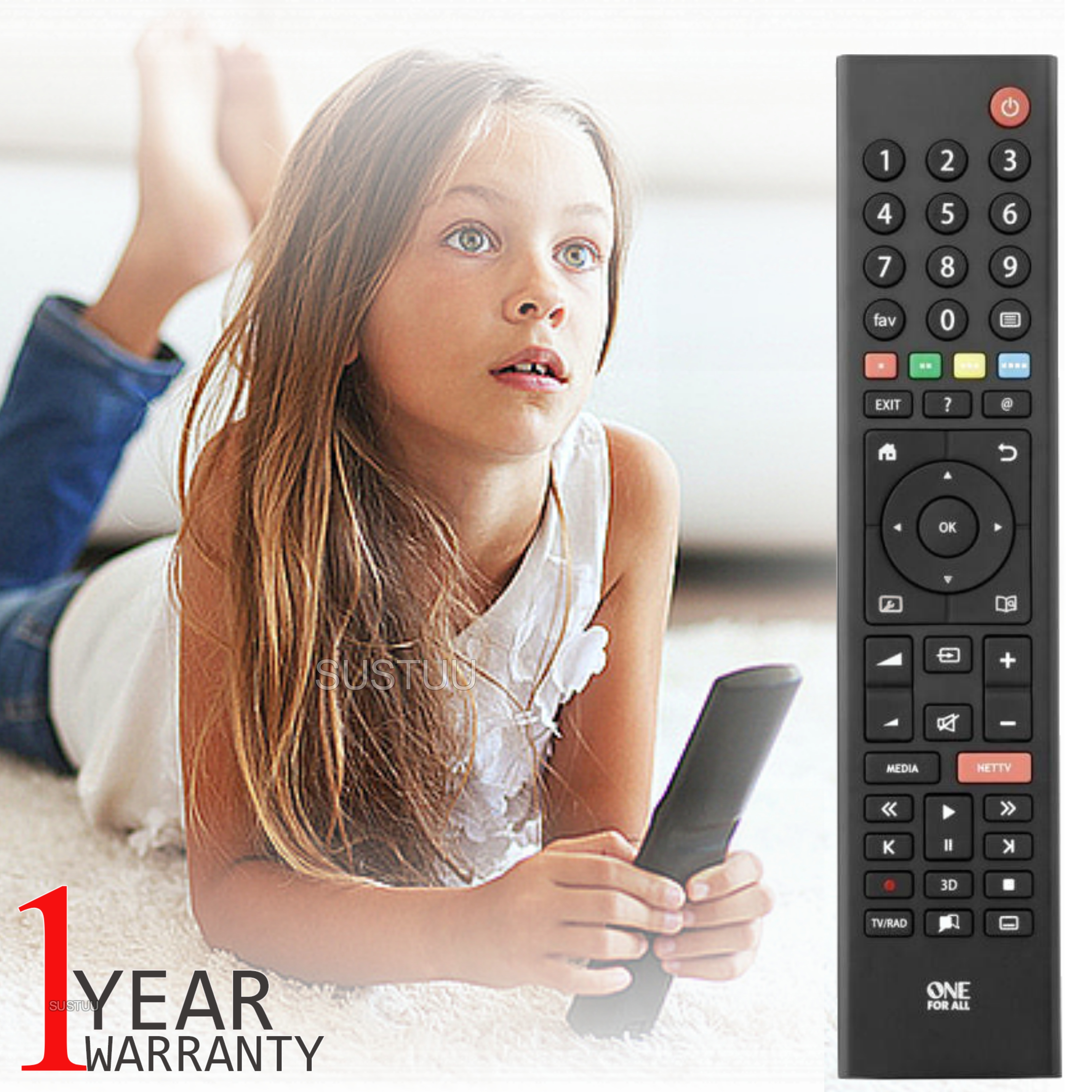 One For All URC1915 Replacement Gurdian TV Remote Control|Plasma-LCD-LED Models|
