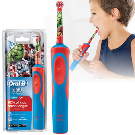 Oral-B Stages Power Rechargeable Electric Toothbrush | Kids Avengers Fun Character Thumbnail 1