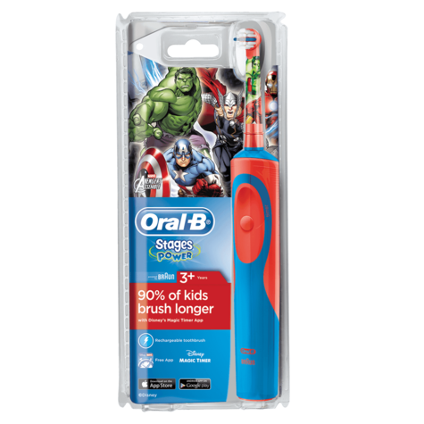 Oral-B Stages Power Rechargeable Electric Toothbrush | Kids Avengers Fun Character Thumbnail 4