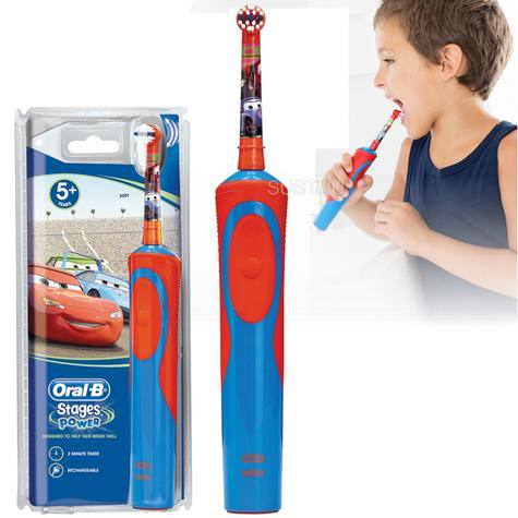 Oral-B Stages Power Kids Rechargeable Electric Toothbrush | Disney Cars Characters Thumbnail 1