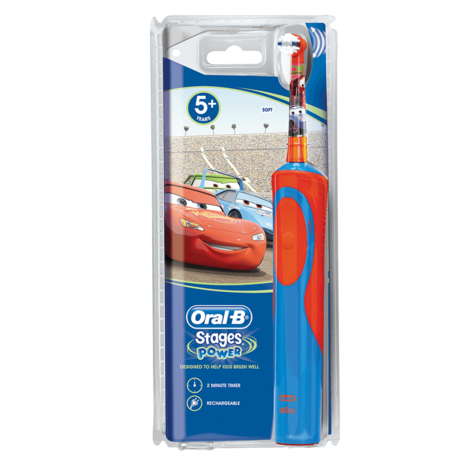 Oral-B Stages Power Kids Rechargeable Electric Toothbrush | Disney Cars Characters Thumbnail 8