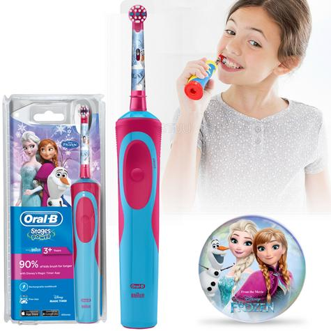 Oral-B Stages Power Vitality Electric Toothbrush | Kids Oral Care | Frozen Characters Thumbnail 1