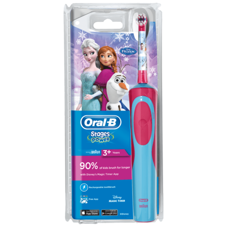 Oral-B Stages Power Vitality Electric Toothbrush | Kids Oral Care | Frozen Characters Thumbnail 6
