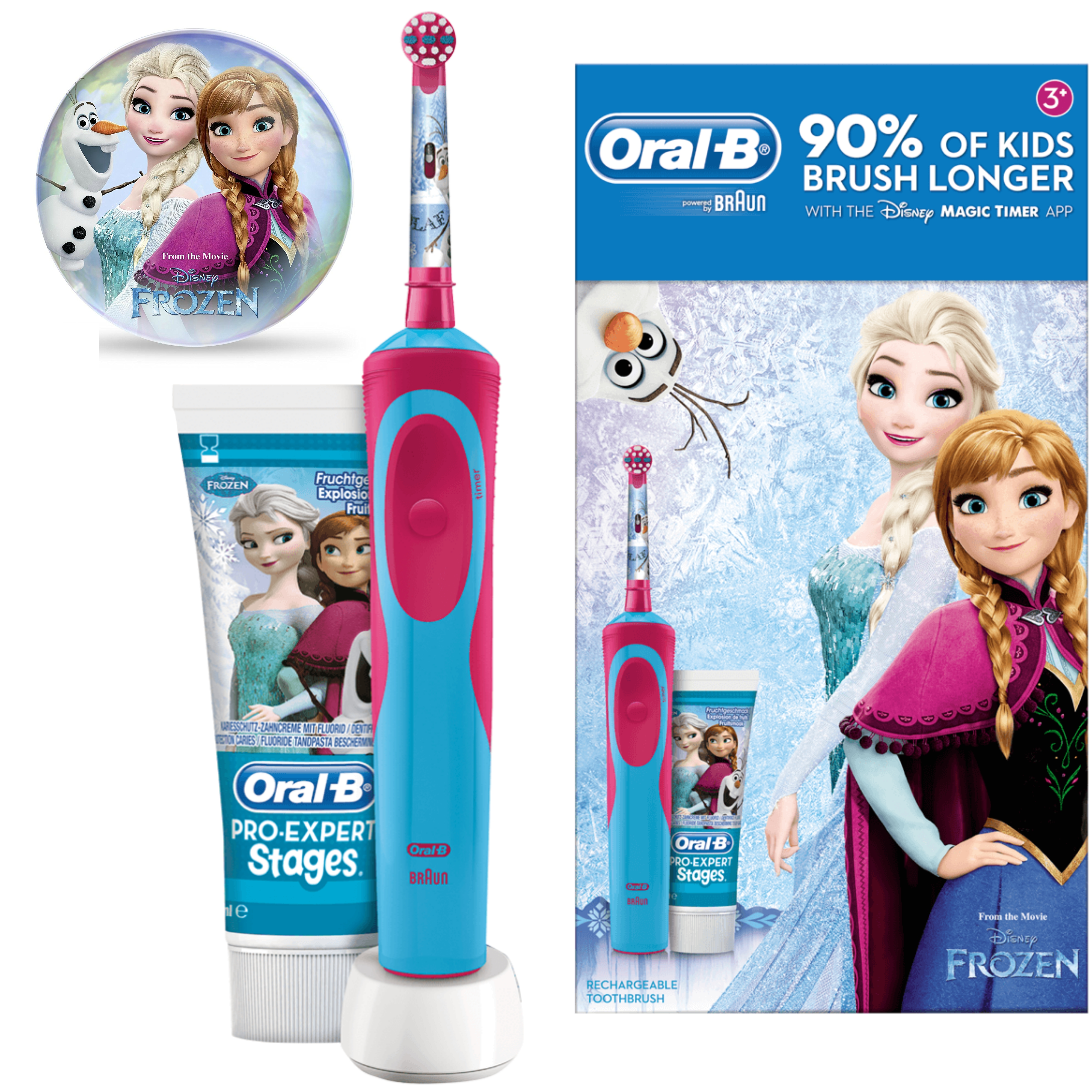 Oral-B Power Kids Gift Pack | Electric Toothbrush & Toothpaste | Frozen Characters