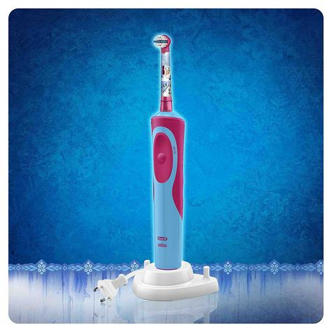 Oral-B Power Kids Gift Pack | Electric Toothbrush & Toothpaste | Frozen Characters Thumbnail 4