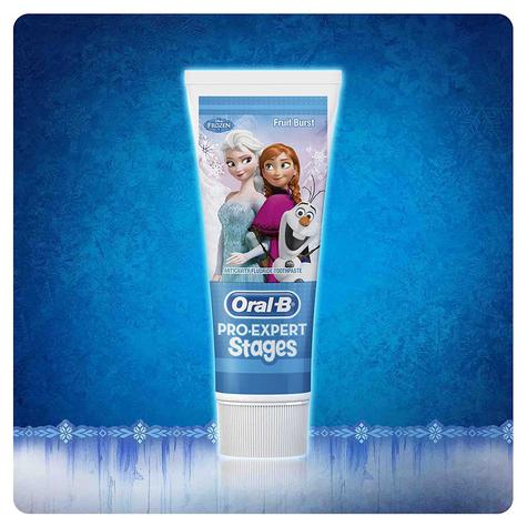 Oral-B Power Kids Gift Pack   Electric Toothbrush & Toothpaste   Frozen Characters Thumbnail 5
