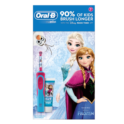 Oral-B Power Kids Gift Pack | Electric Toothbrush & Toothpaste | Frozen Characters Thumbnail 7