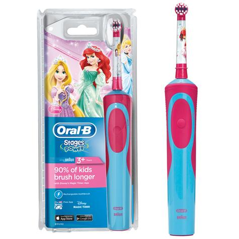 Oral-B Power Kids Rechargeable Electric Toothbrush | Disney Princess Character NEW Thumbnail 1
