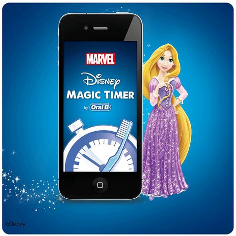 Oral-B Power Kids Rechargeable Electric Toothbrush | Disney Princess Character NEW Thumbnail 5