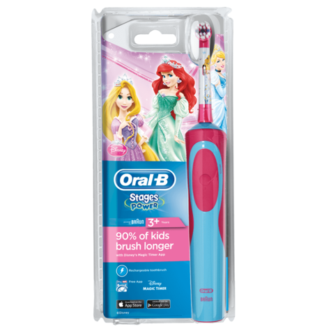 Oral-B Power Kids Rechargeable Electric Toothbrush | Disney Princess Character NEW Thumbnail 7