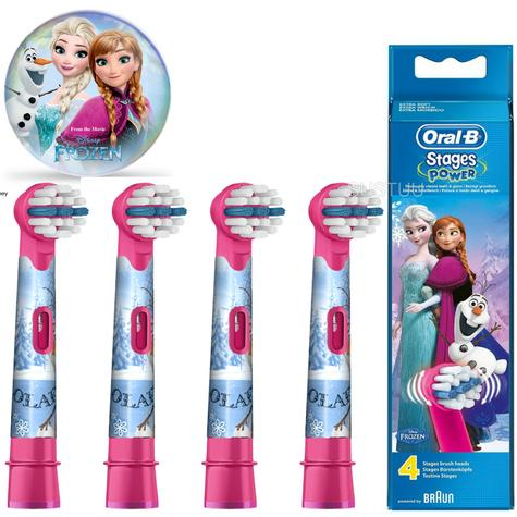 Oral-B Stages Power Replacement Toothbrush Heads (Pack of 4) | Kids Frozen Character Thumbnail 1