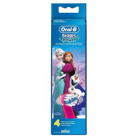Oral-B Stages Power Replacement Toothbrush Heads (Pack of 4) | Kids Frozen Character Thumbnail 4