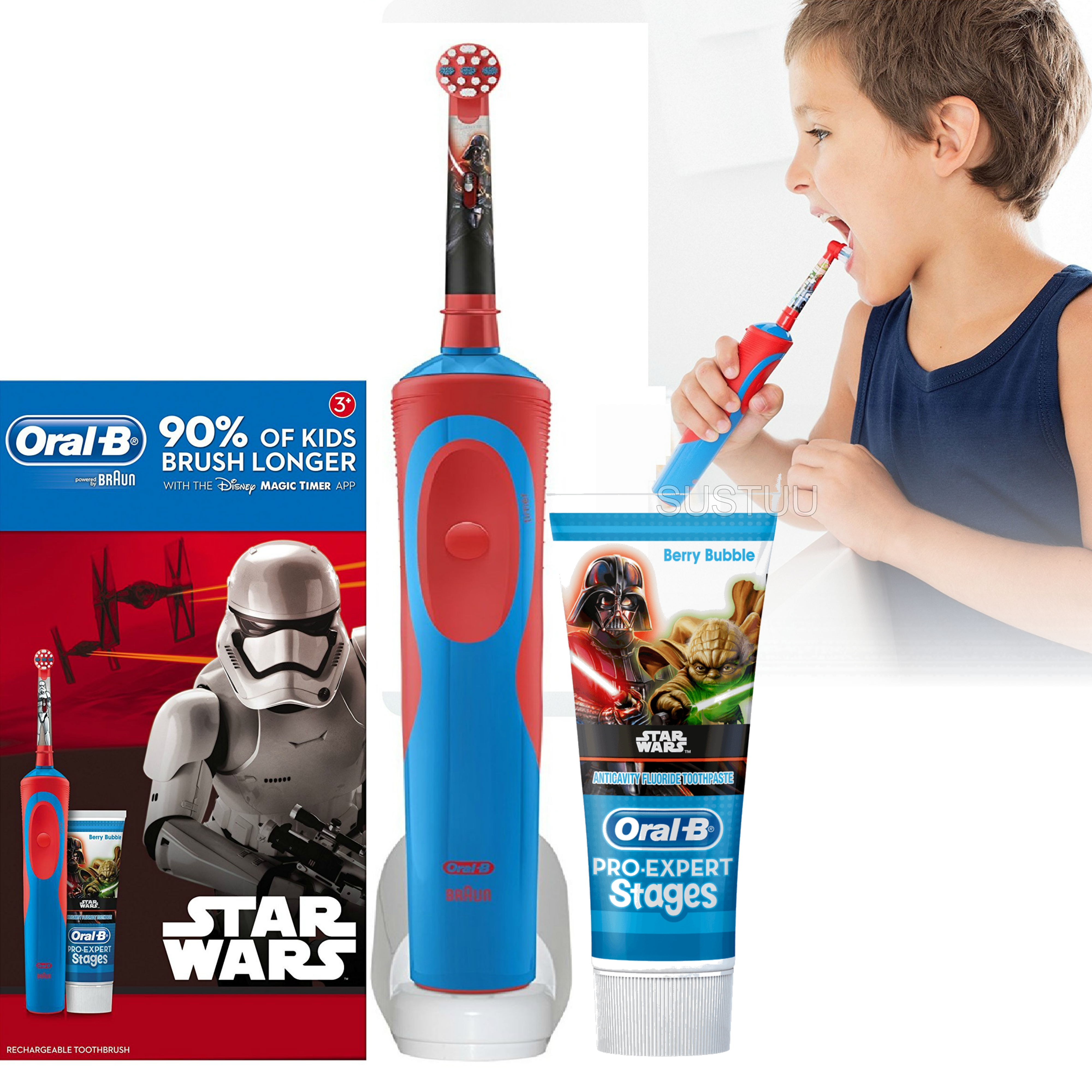 Oral-B Stages Power Kids Electric Toothbrush Set | Toothpaste | Star Wars Characters