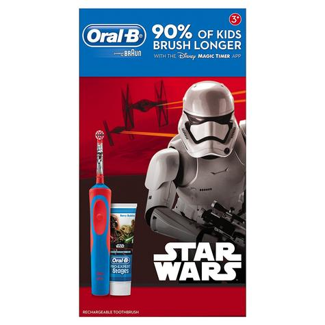 Oral-B Stages Power Kids Electric Toothbrush Set | Toothpaste | Star Wars Characters Thumbnail 6