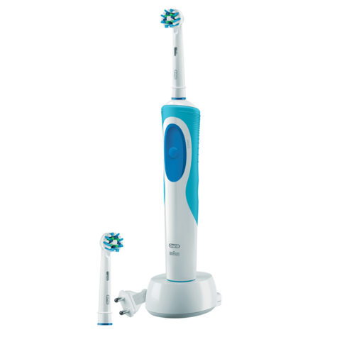 Oral-B Vitality Plus Electric Rechargeable Toothbrush | 2 Cross Action Brush Heads Thumbnail 2