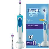 Oral-B Vitality Plus White & Clean Electric Rechargeable Toothbrush | 2 Brush Heads