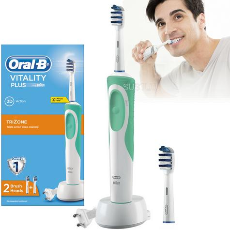 Oral B Vitality Plus TriZone Electric Rechargeable Toothbrush   Oral Care   2D Action Thumbnail 1