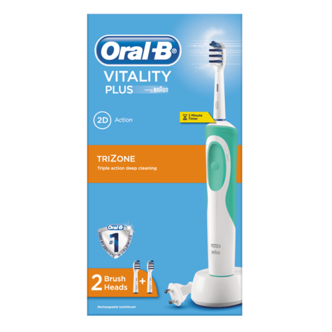 Oral B Vitality Plus TriZone Electric Rechargeable Toothbrush | Oral Care | 2D Action Thumbnail 6