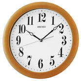 Seiko QXA674B Woodn Wall Clock|Analouge Display|Quartz Movement|White Dial|Brown