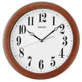 Seiko QXA674Z Woodn Wall Clock|Analouge Display|Quartz Movement|White Dial|Brown