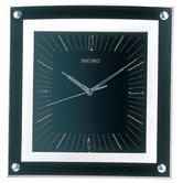Seiko QXA330K Elegant Wall Clock|Analogue Display|Batons Numeral|Plastic|Black