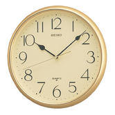Seiko QXA001G Quartz Office & Kitchen Analogue Wall Clock|Arabic Numeral|Gold