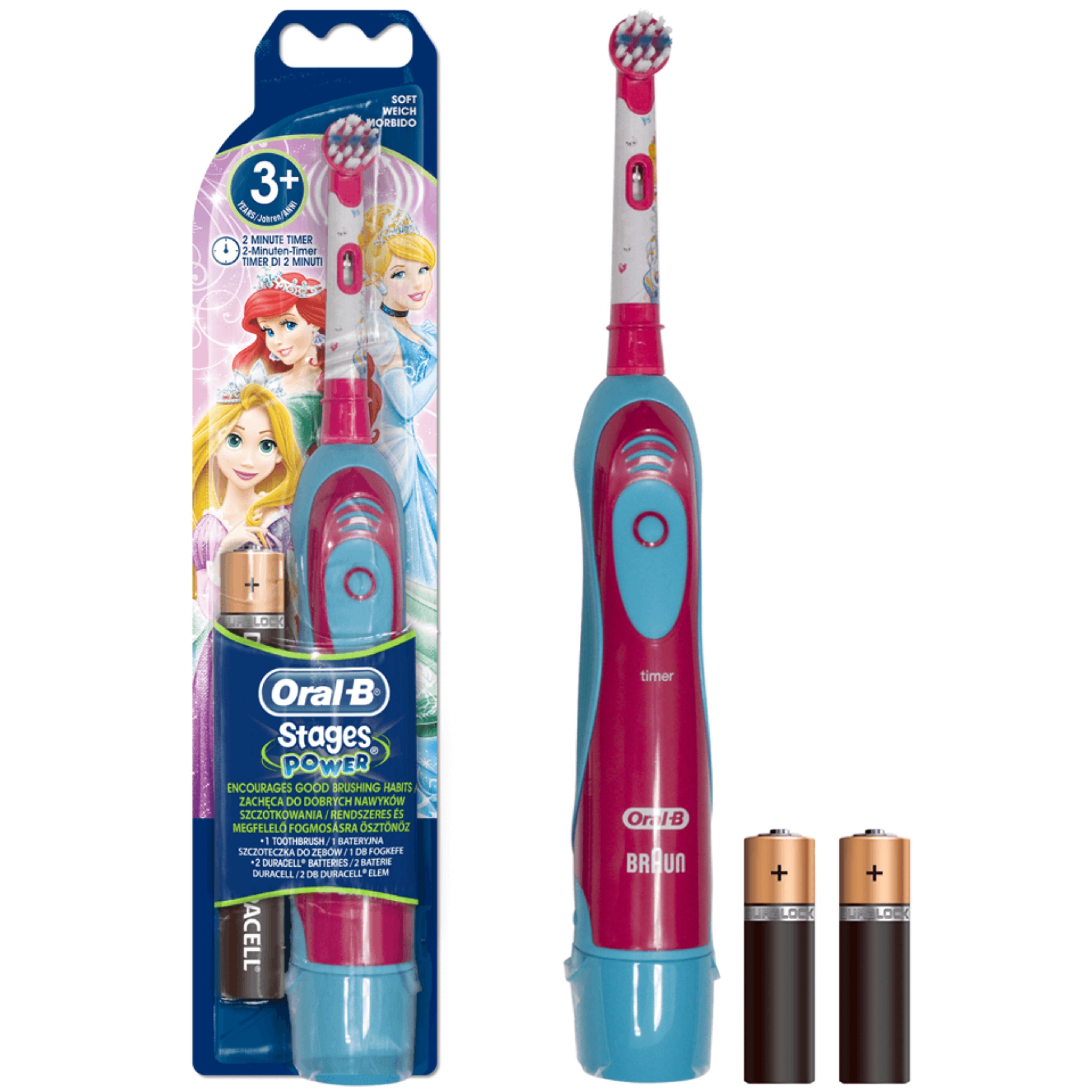 Oral-B Stages Power Kids Electric Toothbrush | Girls Oral | Disney Princess Edition