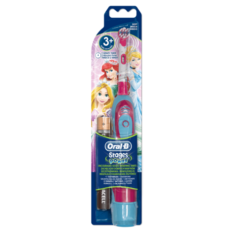 Oral-B Stages Power Kids Electric Toothbrush | Girls Oral | Disney Princess Edition Thumbnail 3