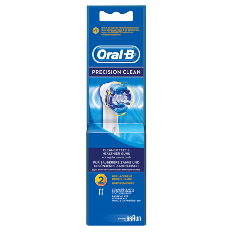 Oral-B Precision Clean Toothbrush Repalcement Heads (Pack of 2) | Flexisoft Bristles Thumbnail 4