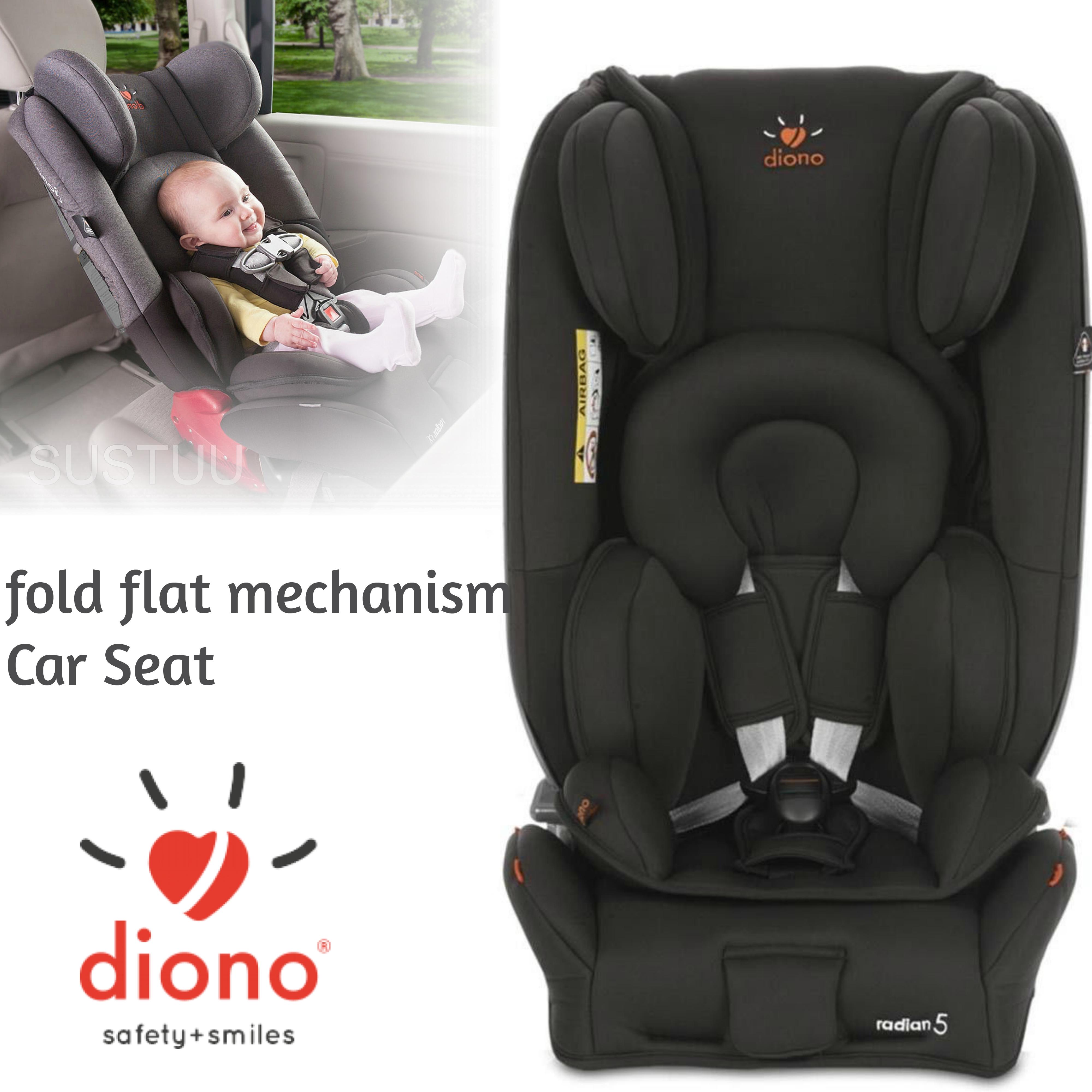 Diono Radian 5 Midnight Black DNO-CAR01| Baby Child Convertible Car Travel Seat