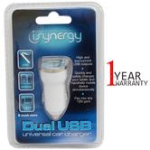 iSynergy Universal In Car Dual USB Charger | 12V Dock |  for Tablets & Mobile Phones with High Grade Materials