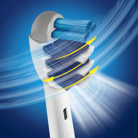 Oral-B Trizone Replacement Brush Heads | Triple Action Deep Cleaning Thumbnail 3