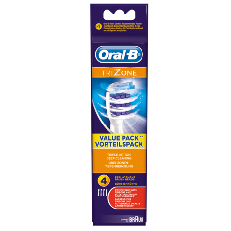 Oral-B Trizone Replacement Brush Heads (Pack of 4) | Triple Action Deep Cleaning Thumbnail 4