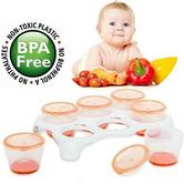Vital Baby Removable Twist 'n' Lock Freezer Pods and Tray | Baby Food storing | Plastic container | New