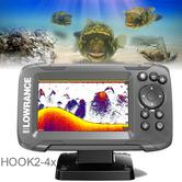 Lowrance HOOK2-4x GPS Plotter/Fishfinder with Bullet Skimmer Transducer|000-14015-001