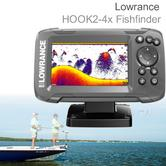"Lowrance HOOK2-4x - 4""|Fishfinder with Bullet Skimmer Transducer|Sonar|000-14013-001"