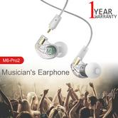 MEE Audio M6PRO 2nd Gen Musicians In Earphone | Noise-Isolating | Cable + Case | Clear